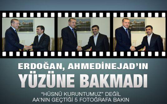 Erdoğan yüzüne bakmadı
