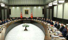 Cumhurbaşkanı Sarayı'nda tarihi toplantı başladı