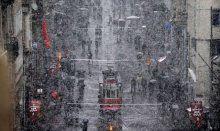 İstanbul'da kar manzaraları