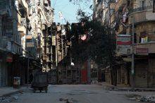 Halep'te keskin nişancılara otobüslü önlem