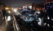 TEM otoyolunda kaza, 2 kişi hayatını kaybetti