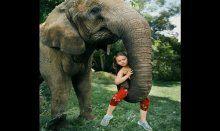 Vahşi hayvanlarla büyüyen kız