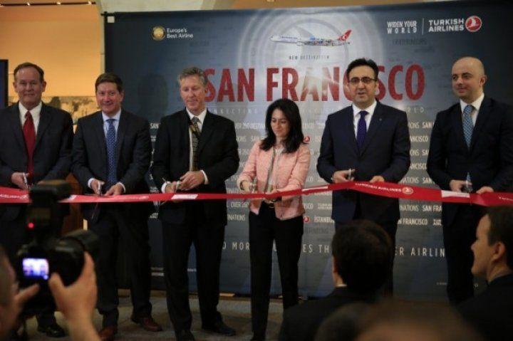 THY İstanbul'dan San Francisco'ya ilk uçuşunu gerçekleştirdi