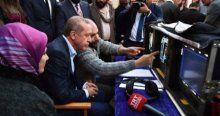 Erdoğan yönetmen koltuğuna oturdu