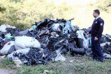 Ormanda tam 50 ton sanayi atığı bulundu