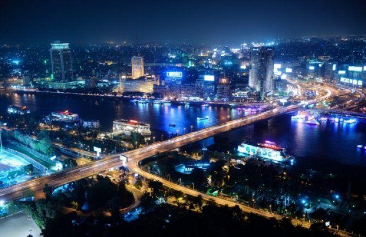 Kahire' de akşam manzarası