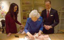 Kraliçe torun ziyaretinde