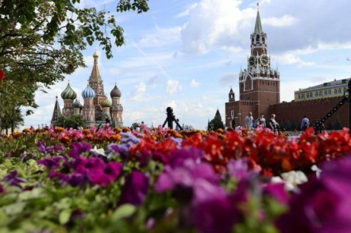 Moskova'da çiçek festivali