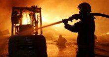 Avcılar'da palet deposunda yangın