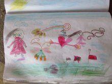 Sığınmacı çocukların hayallerini çizdiği resimler yürek dağladı