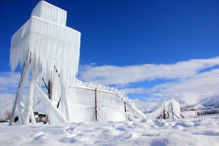 Erzurum'dan buzdan manzara