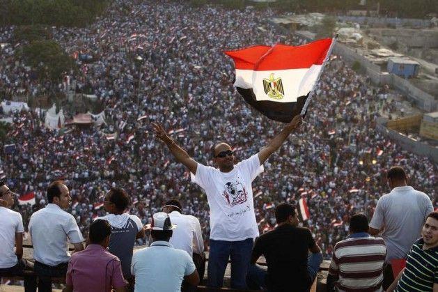 Mısır'da tarihi süreçten çarpıcı kareler