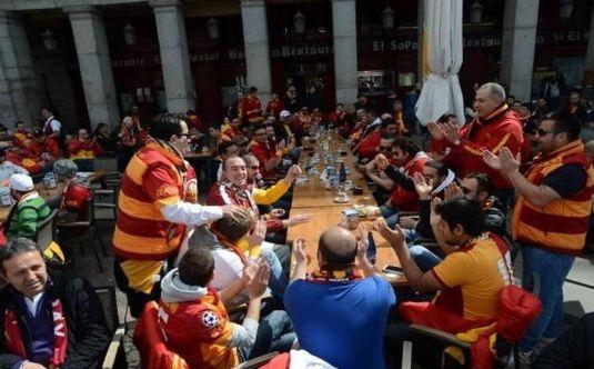 Galatasaray taraftarı Madrid'de