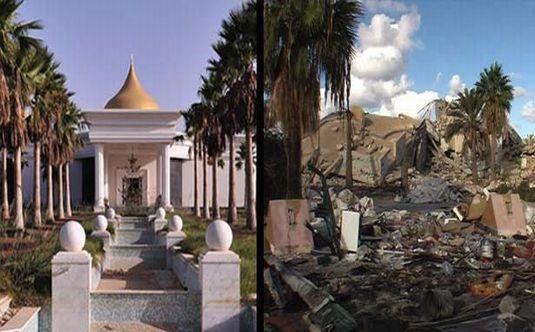 Kaddafi'nin sarayı ilk defa görüntülendi