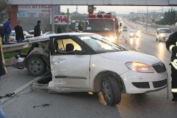 Bu kazadan burnu bile kanamadan çıktı!