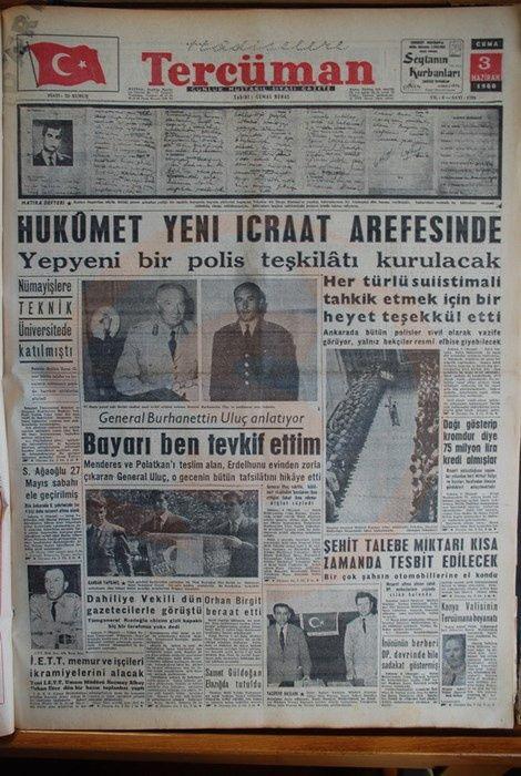 Bu manşetler Menderes'i idama götürdü