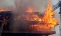 Gökdelen inşaatında yangın