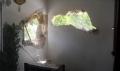 Suriye'den atılan top eve düştü