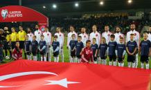 Letonya - Türkiye maçından kareler
