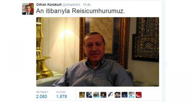 Cumhurbaşkanı Erdoğan'dan seçim pozu!