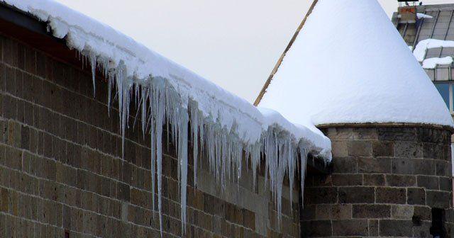 Buz sarkıtları tehlike saçıyor