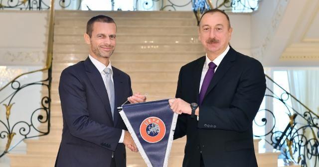 Aliyev UEFA Başkanını kabul etti