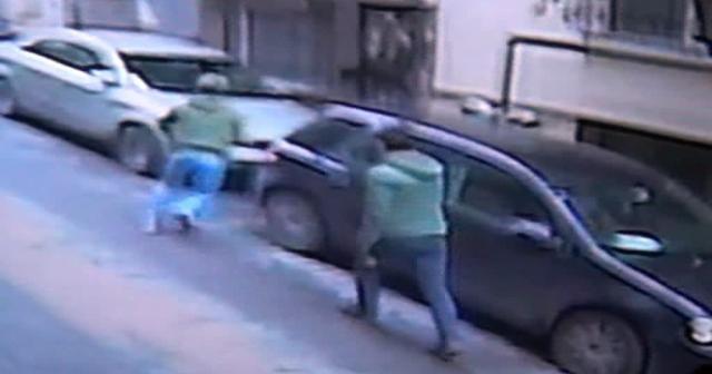Cihangir'deki silahlı kavga kamerada
