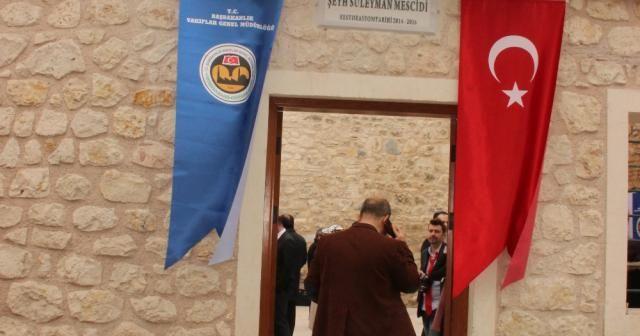 Tarihi mescit yeniden ibadete açıldı