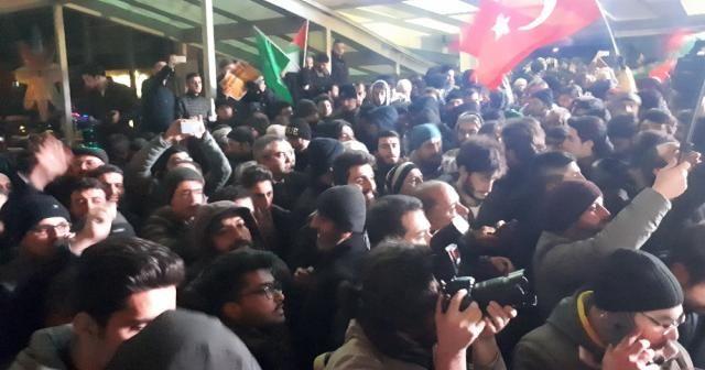 Ankara'da Kudüs protestosu
