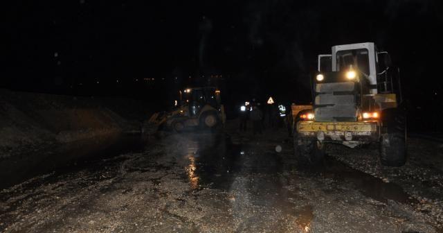 İnegöl-Yenişehir karayolunda çökme