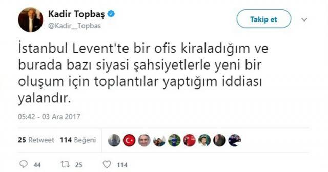 Kadir Topbaş'tan yeni oluşum iddialarına yanıt