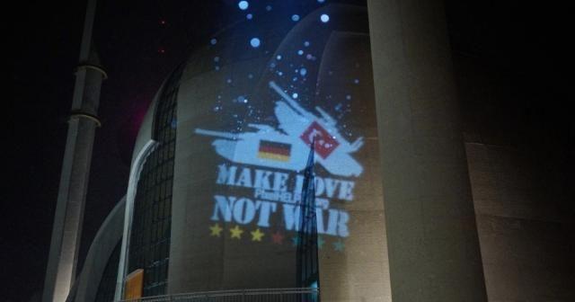 Almanya'da camiye lazer ışıklı saldırı