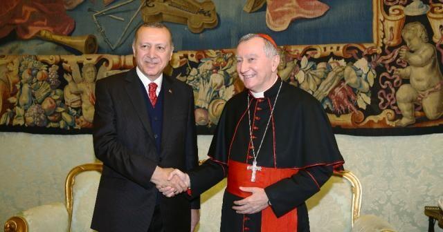 Cumhurbaşkanı Erdoğan, Kardinal Parolin'i kabul etti