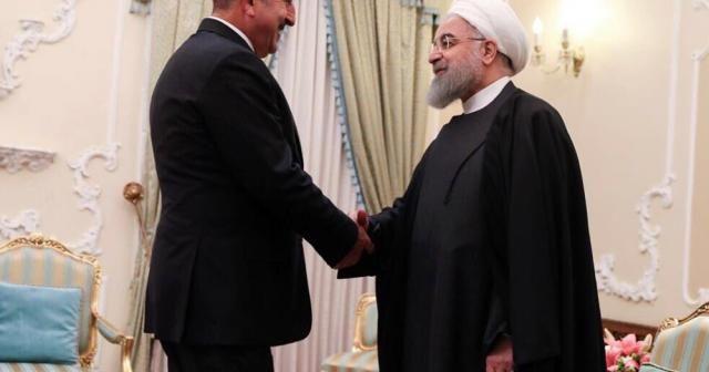 Dışişleri Bakanı Çavuşoğlu, İran Cumhurbaşkanı ile görüştü