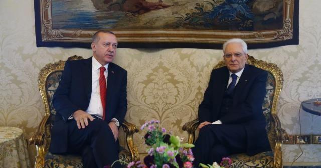 Erdoğan İtalyan mevkidaşıyla görüştü