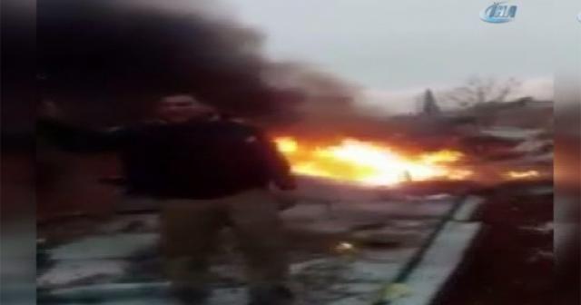 İdlib'te Rus savaş uçağı düşürüldü