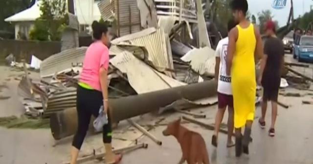 Kasırga parlamento binasını vurdu