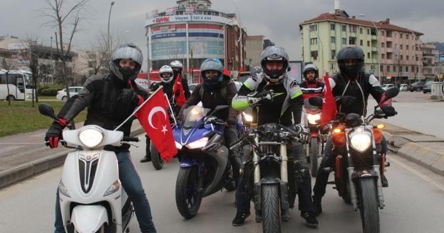 Motosiklet tutkunları Mehmetçik için yollarda