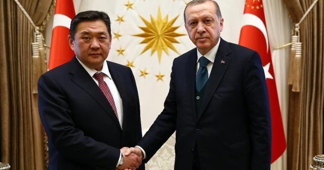 Erdoğan, Moğolistan Meclis Başkanı Enkhbold'u kabul etti