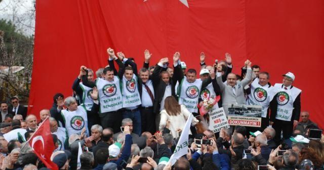 Şeker fabrikasının özelleştirilmesine protesto