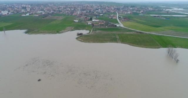 Taşan Ergene Nehri havadan görüntülendi