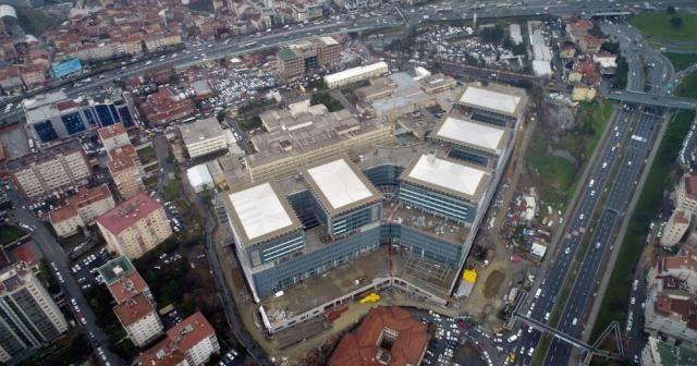 Yenilenen Okmeydanı Eğitim ve Araştırma Hastanesi havadan görüntülendi