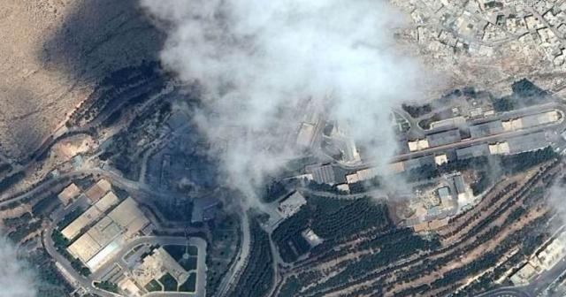 Suriye'de vurulan tesisler uydudan görüntülendi