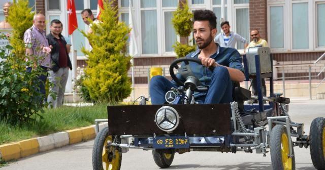 Hurdalardan otomobil: Öğrenciler yaptı