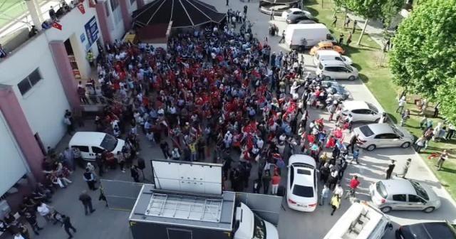 İstanbul, Filistin için ayakta
