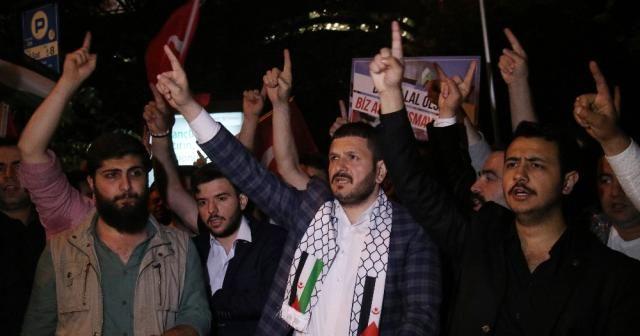 Levent'te İsrail Konsolosluğu önünde eylem