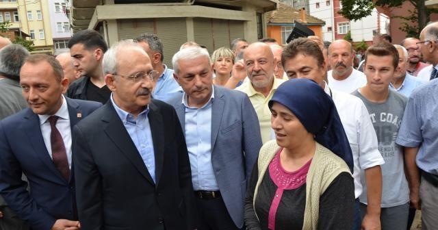 Kılıçdaroğlu Fatsa'da sel bölgesinde