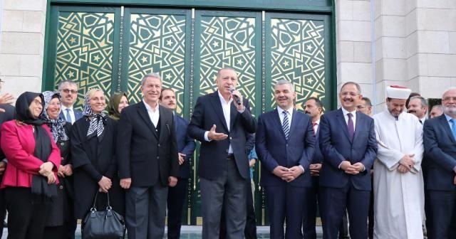 Erdoğan Orgeneral Hulusi Akar Camii'ni açtı