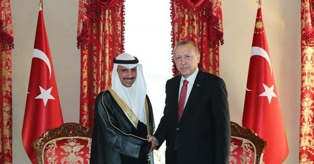 Kuveyt Ulusal Meclis Başkanı Elgani ile bir araya geldi