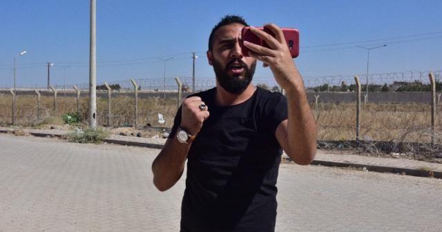 Suriyeli sığınmacıdan sıfır noktasında tek kişilik eylem